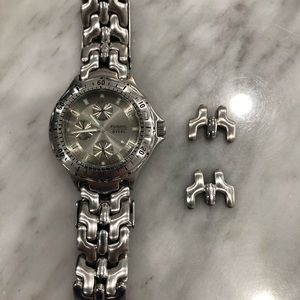 Fossil Steel Men's Watch New Battery Extra Links